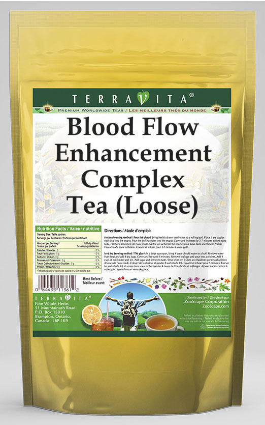 Blood Flow Enhancement Complex Tea (Loose) - Periwinkle, Primrose, Garlic and More