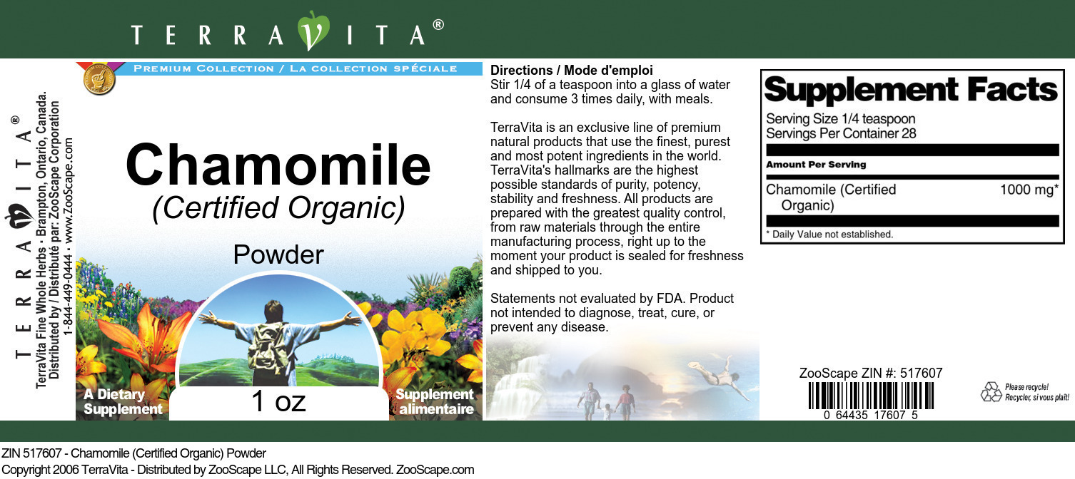 Chamomile (Certified Organic) Powder
