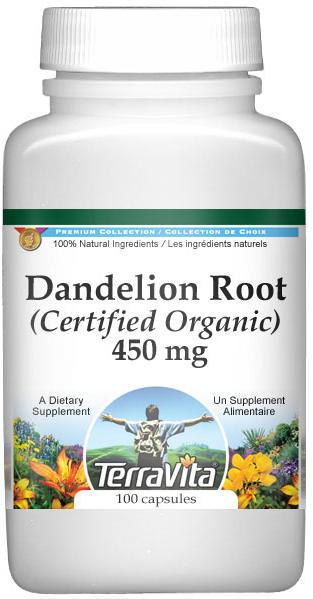 Dandelion Root (Certified Organic) - 450 mg