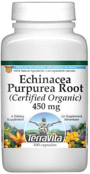 Echinacea Purpurea Root (Certified Organic) - 450 mg