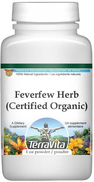Feverfew Herb (Certified Organic) Powder