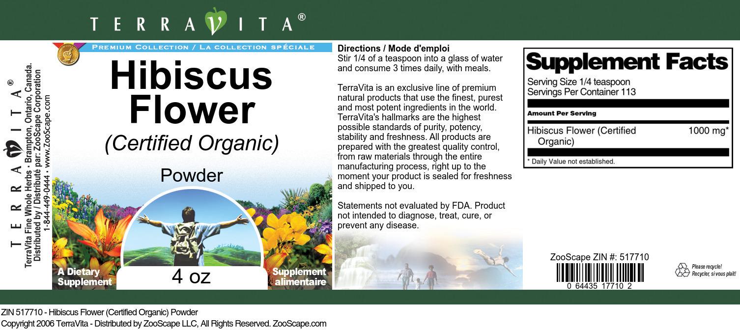 Hibiscus Flower (Certified Organic) Powder