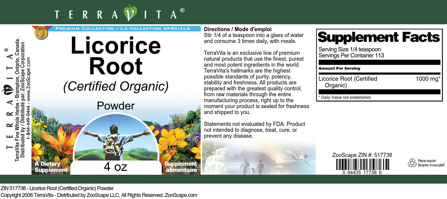 Licorice Root (Certified Organic) Powder