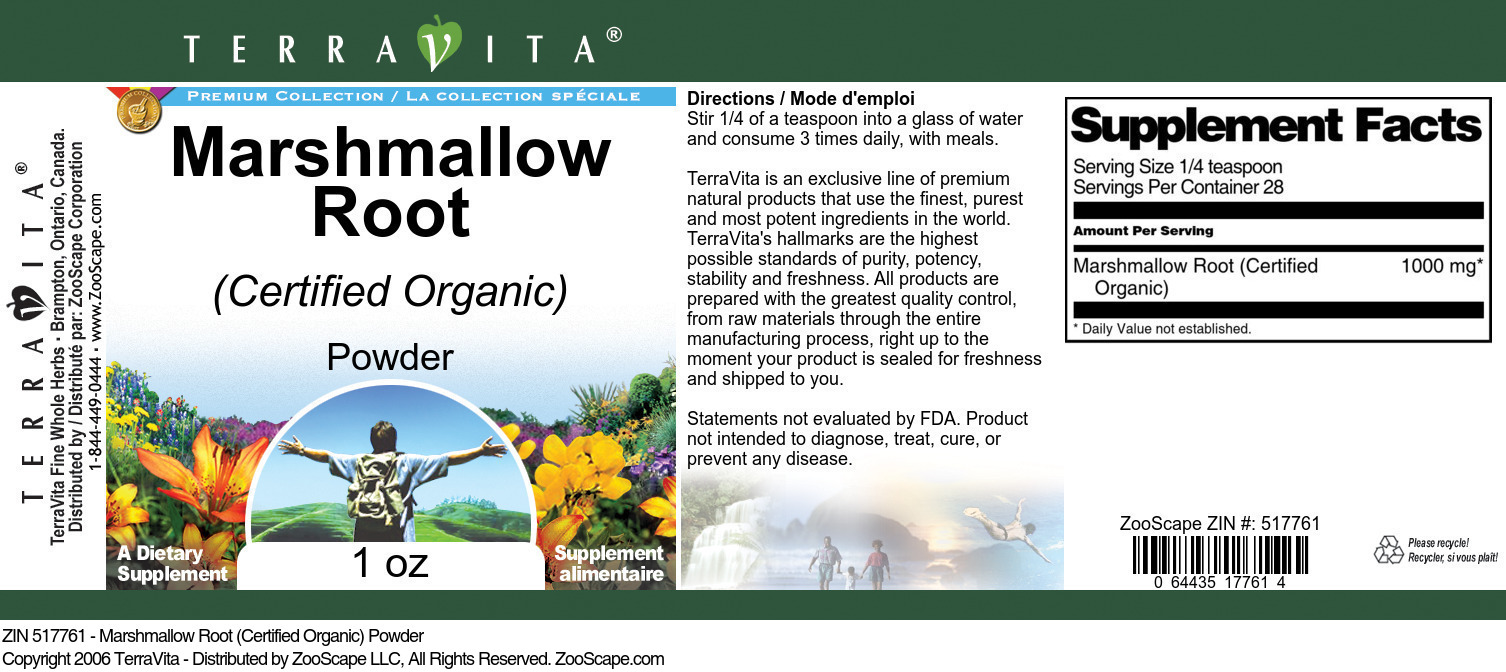 Marshmallow Root (Certified Organic) Powder