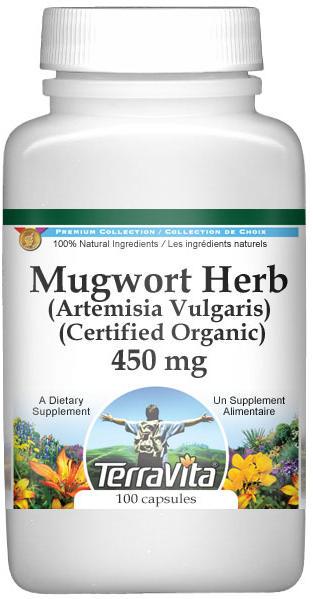 Mugwort Herb (Artemisia Vulgaris) (Certified Organic) - 450 mg