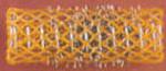 Italian Wire Rollers - Long - Orange - Package of 12