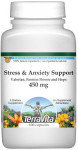 Stress and Anxiety Support - Valerian, Passion Flower and Hops - 450 mg