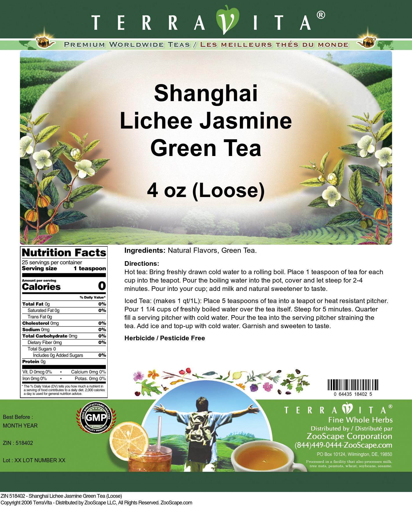 Shanghai Lichee Jasmine Green Tea (Loose)