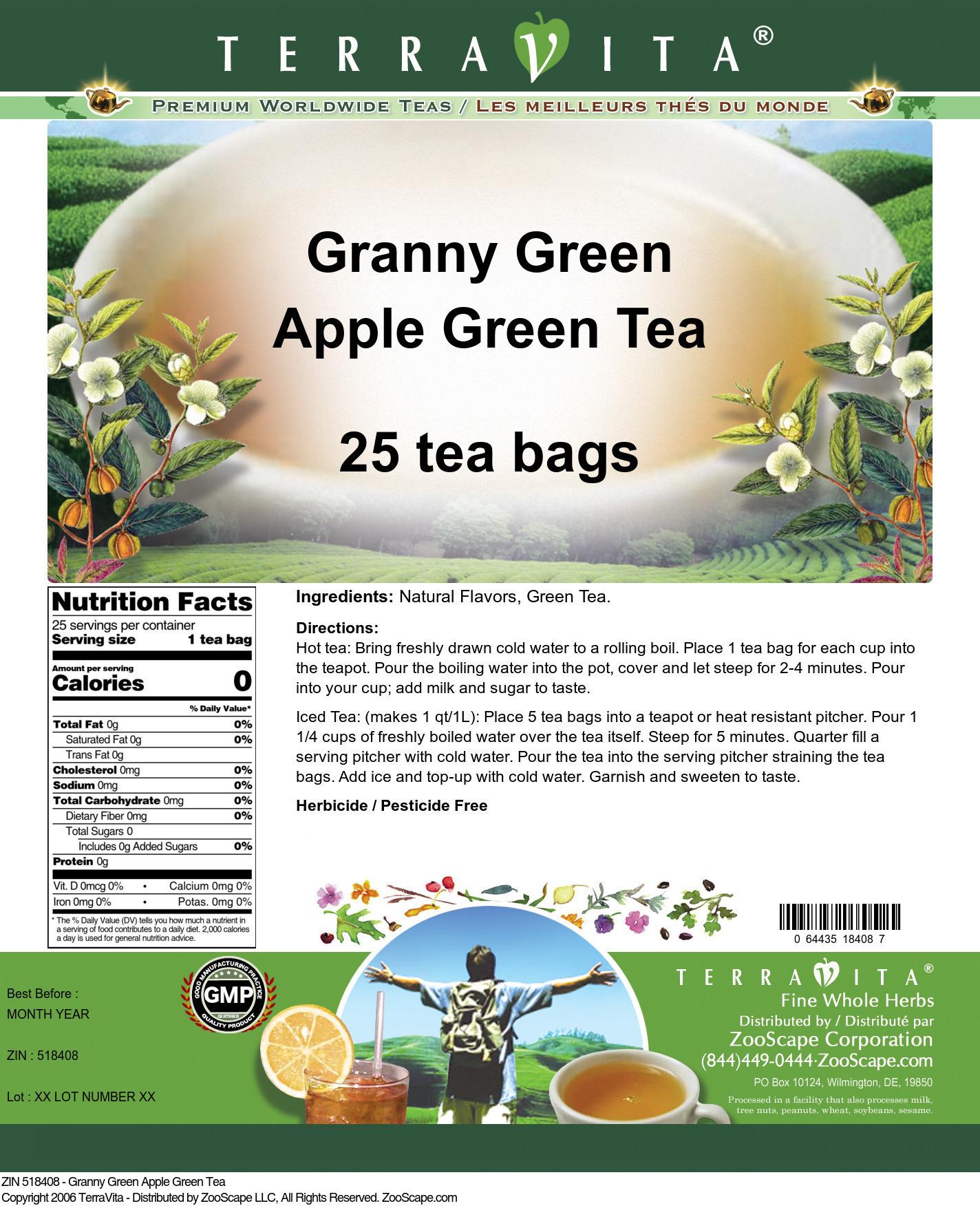 Granny Green Apple Green Tea
