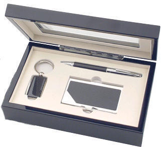 Pen, Key Ring and Business Card Holder Gift Set