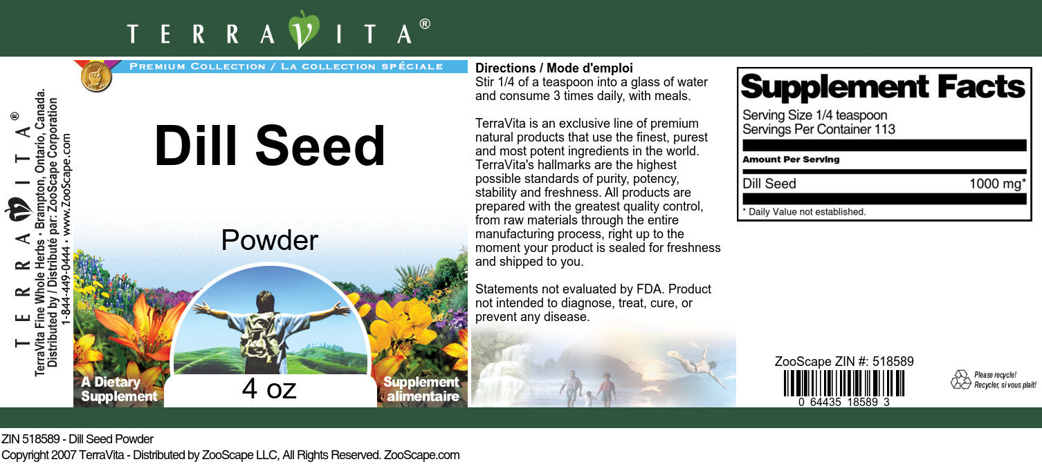 Dill Seed Powder