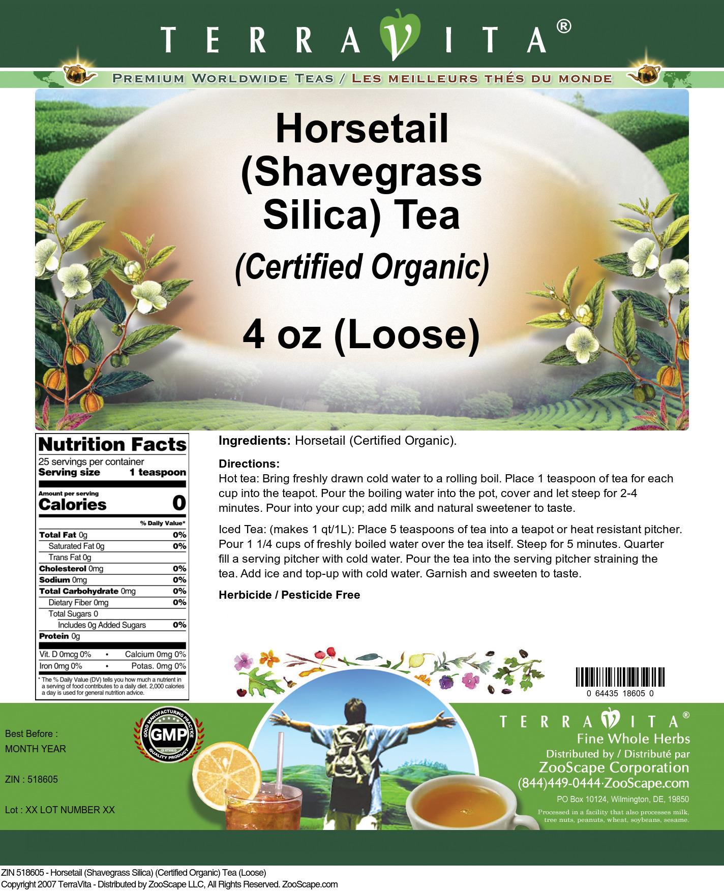 Horsetail (Shavegrass Silica) (Certified Organic) Tea (Loose)
