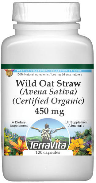 Wild Oat Straw (Avena Sativa) (Certified Organic) - 450 mg