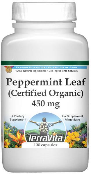 Peppermint Leaf (Certified Organic) - 450 mg