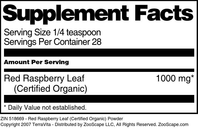 Red Raspberry Leaf