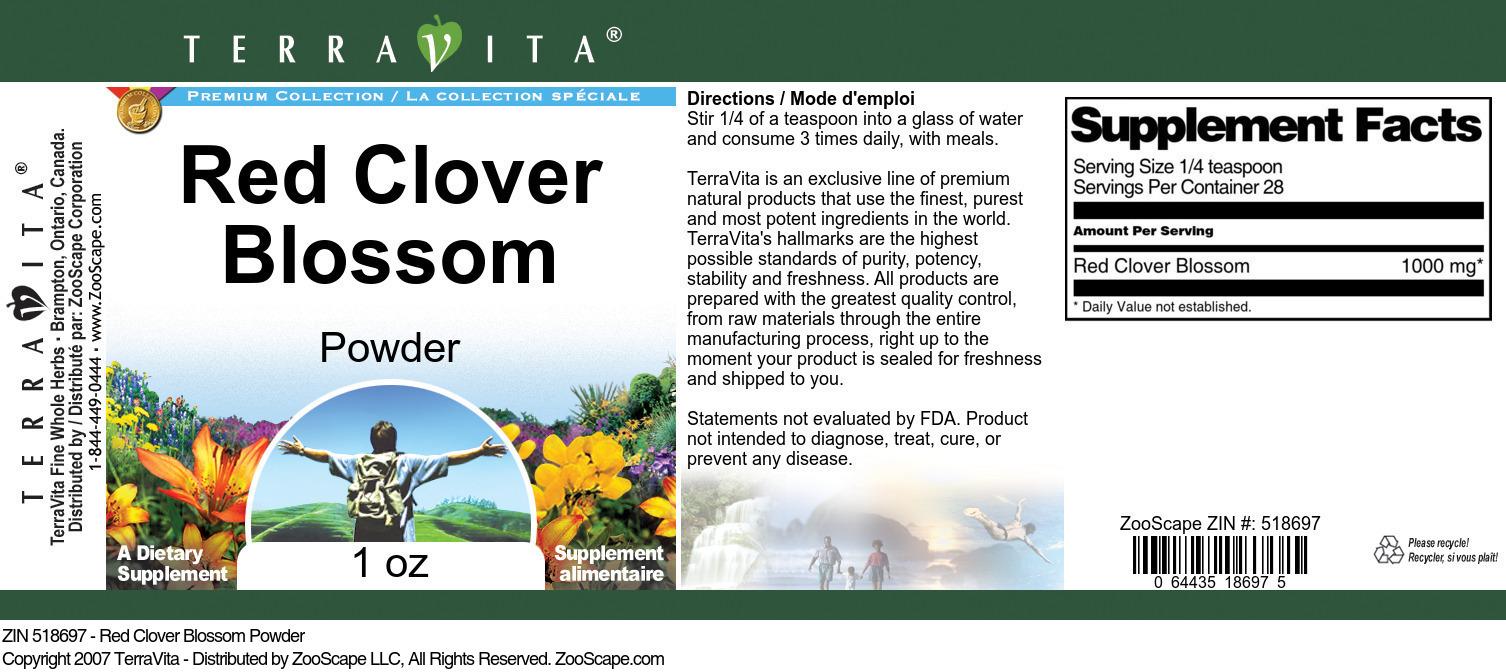 Red Clover Blossom Powder