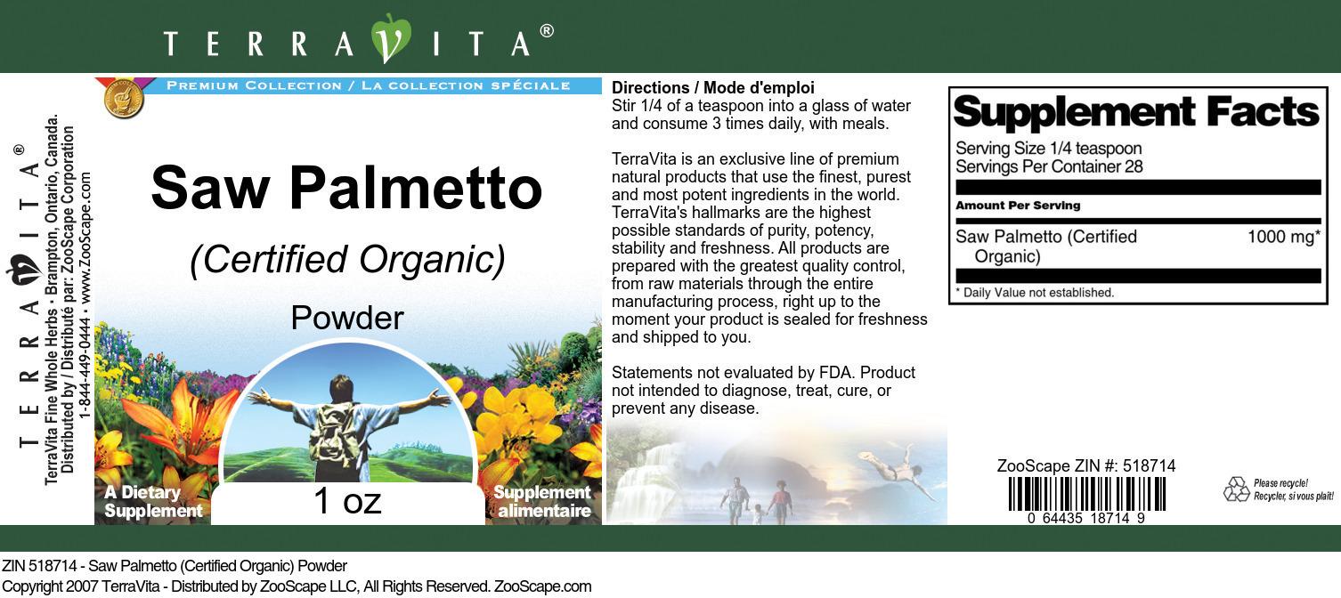 Saw Palmetto (Certified Organic) Powder