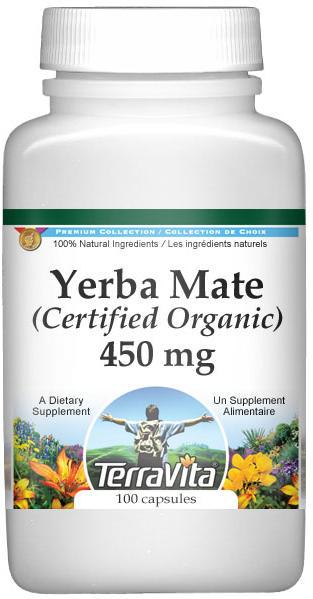 Yerba Mate (Certified Organic) - 450 mg