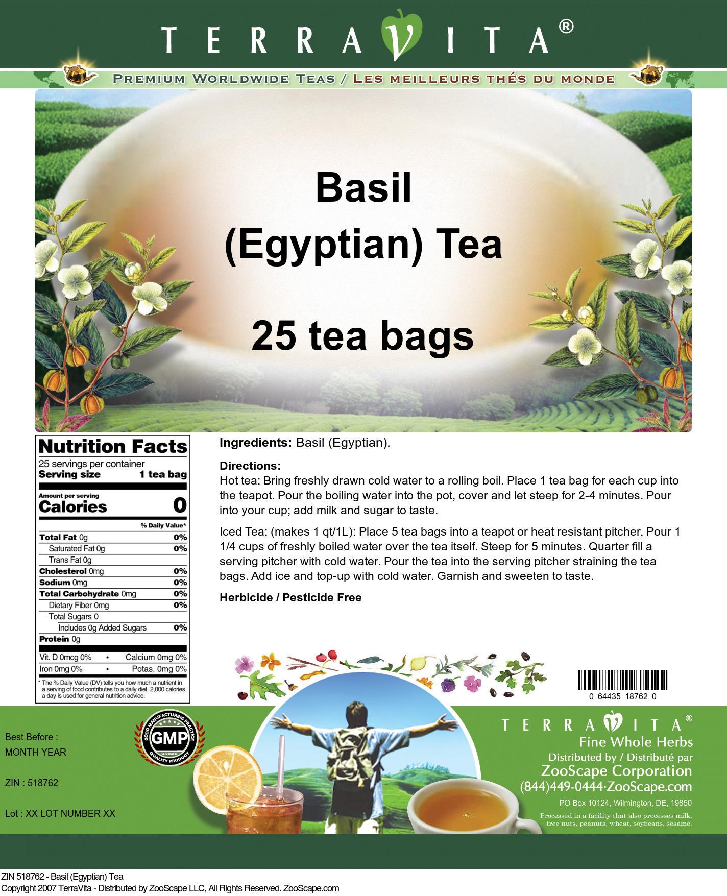 Basil (Egyptian) Tea