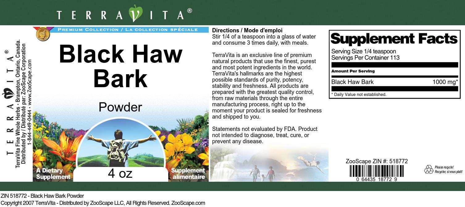 Black Haw Bark Powder