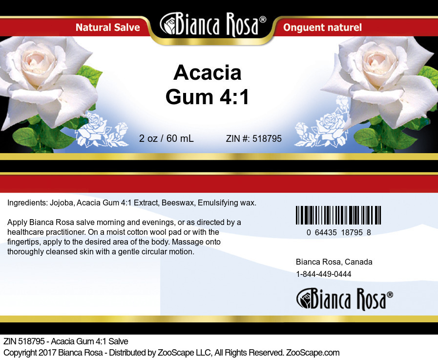 Acacia Gum 4:1 Salve