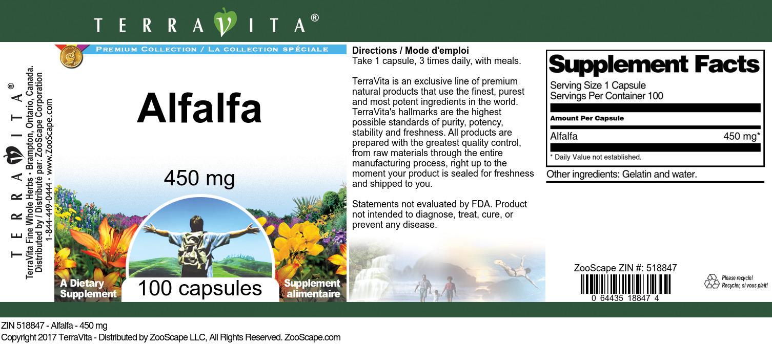 Alfalfa - 450 mg