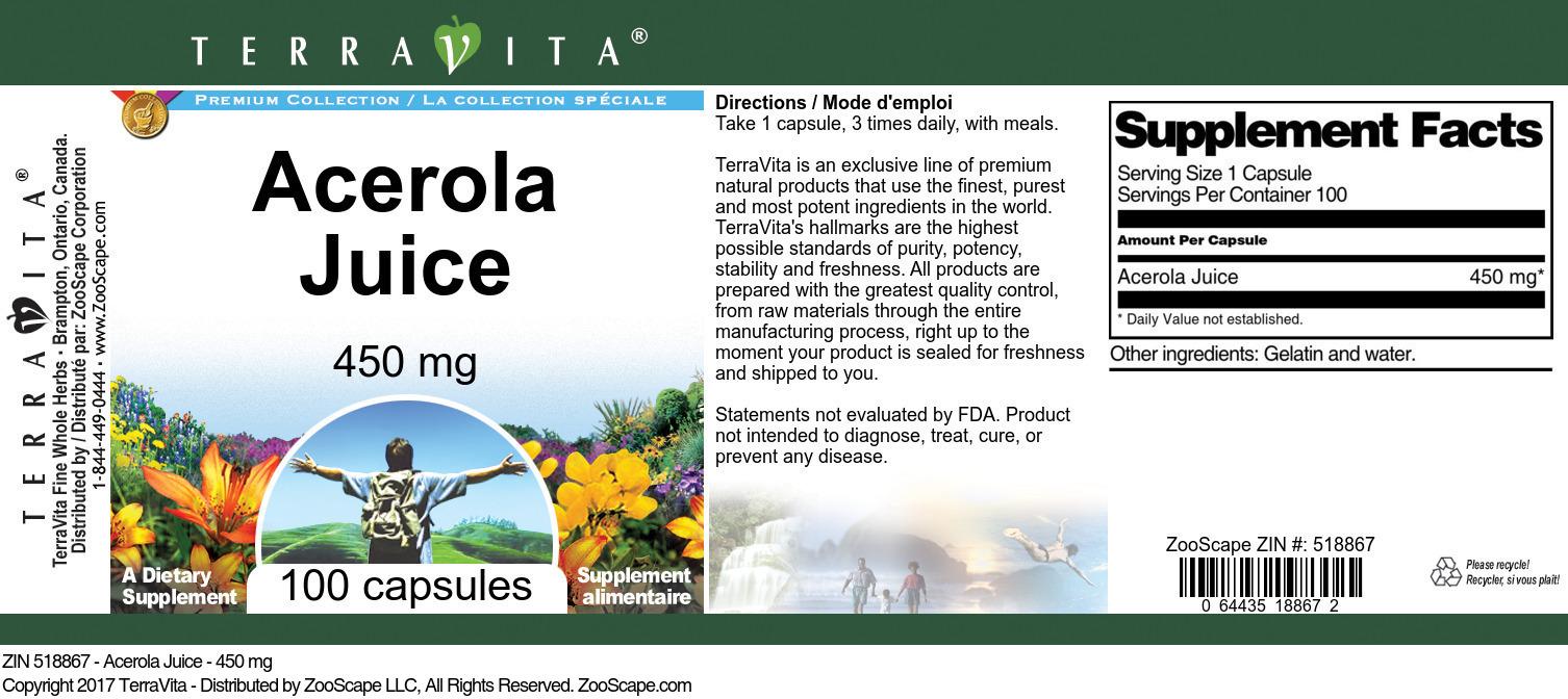 Acerola Juice - 450 mg