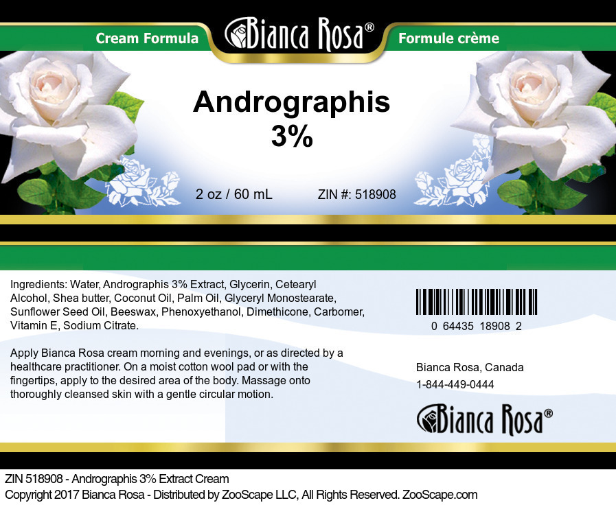 Andrographis 3% Cream
