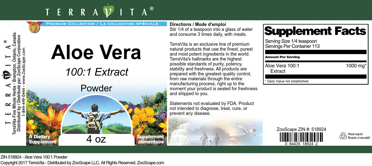 Aloe Vera 100:1 Powder