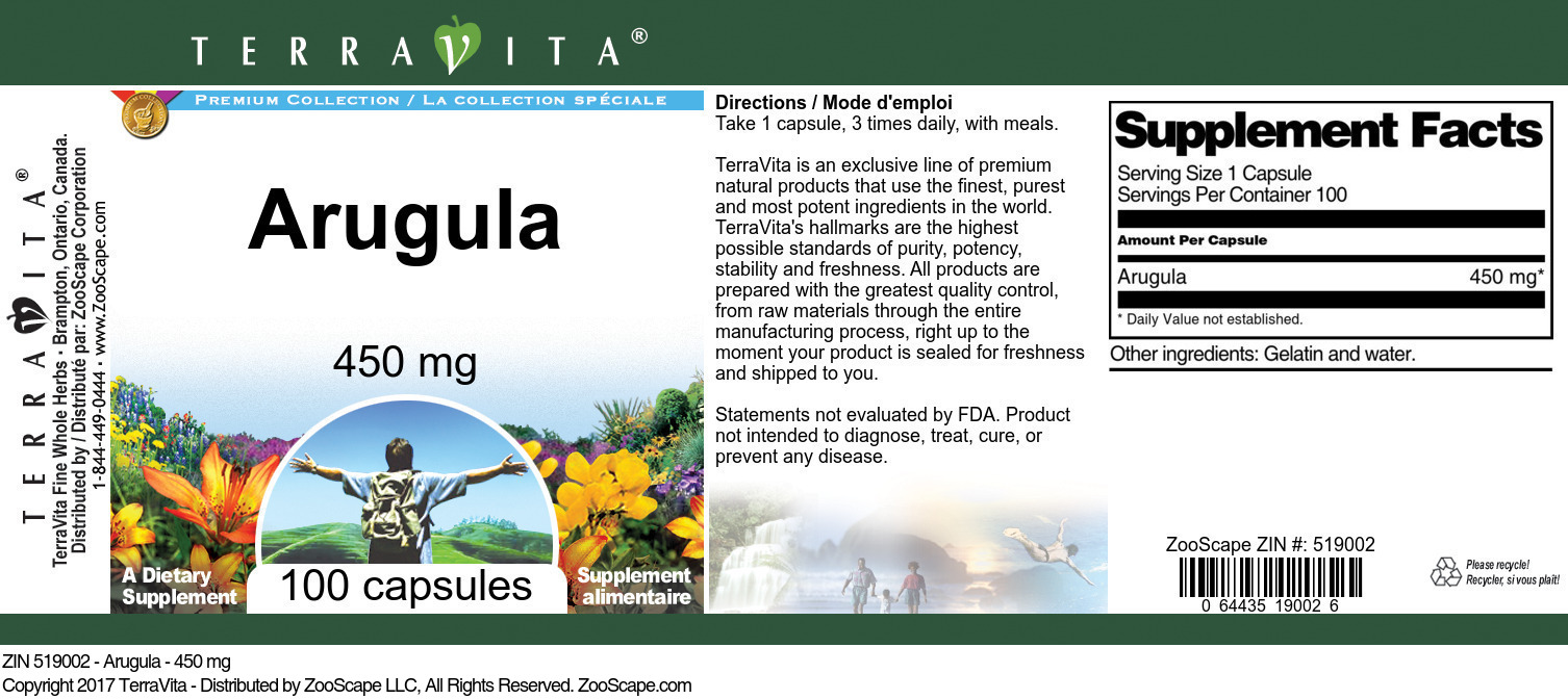 Arugula - 450 mg