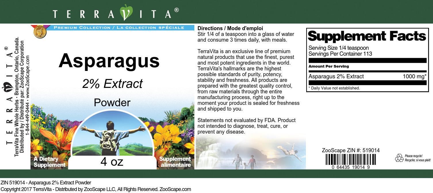 Asparagus 2% Powder