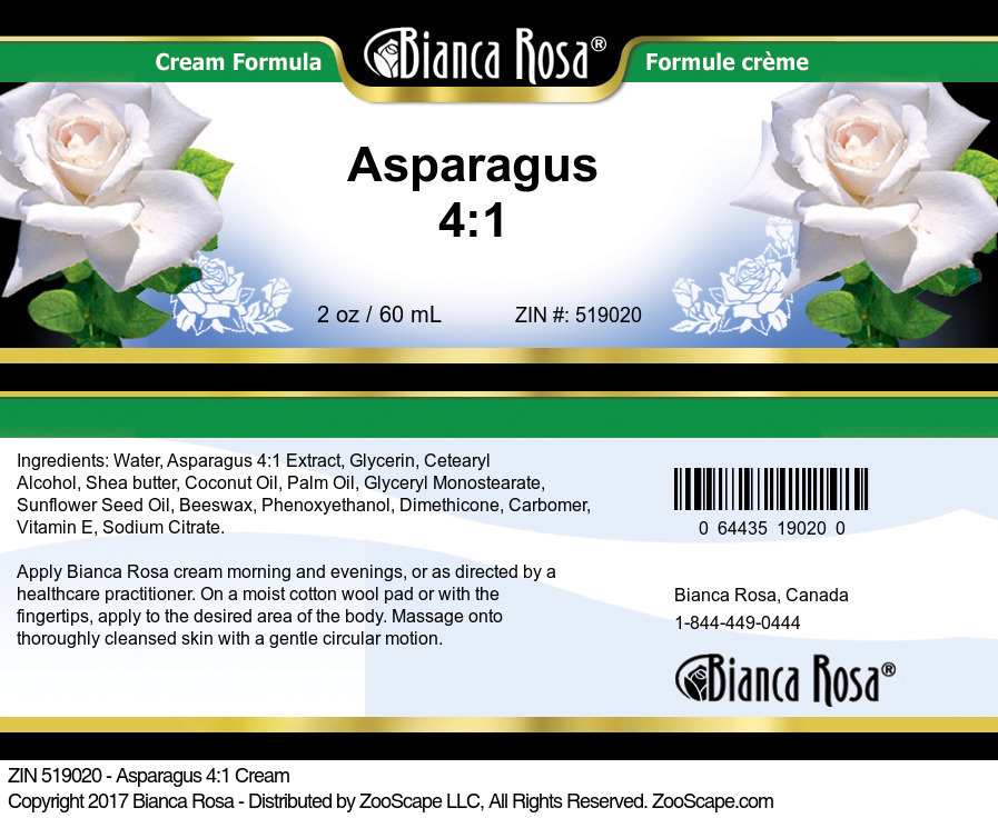 Asparagus 4:1 Cream