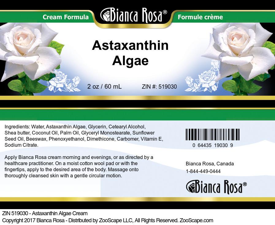 Astaxanthin Algae Cream