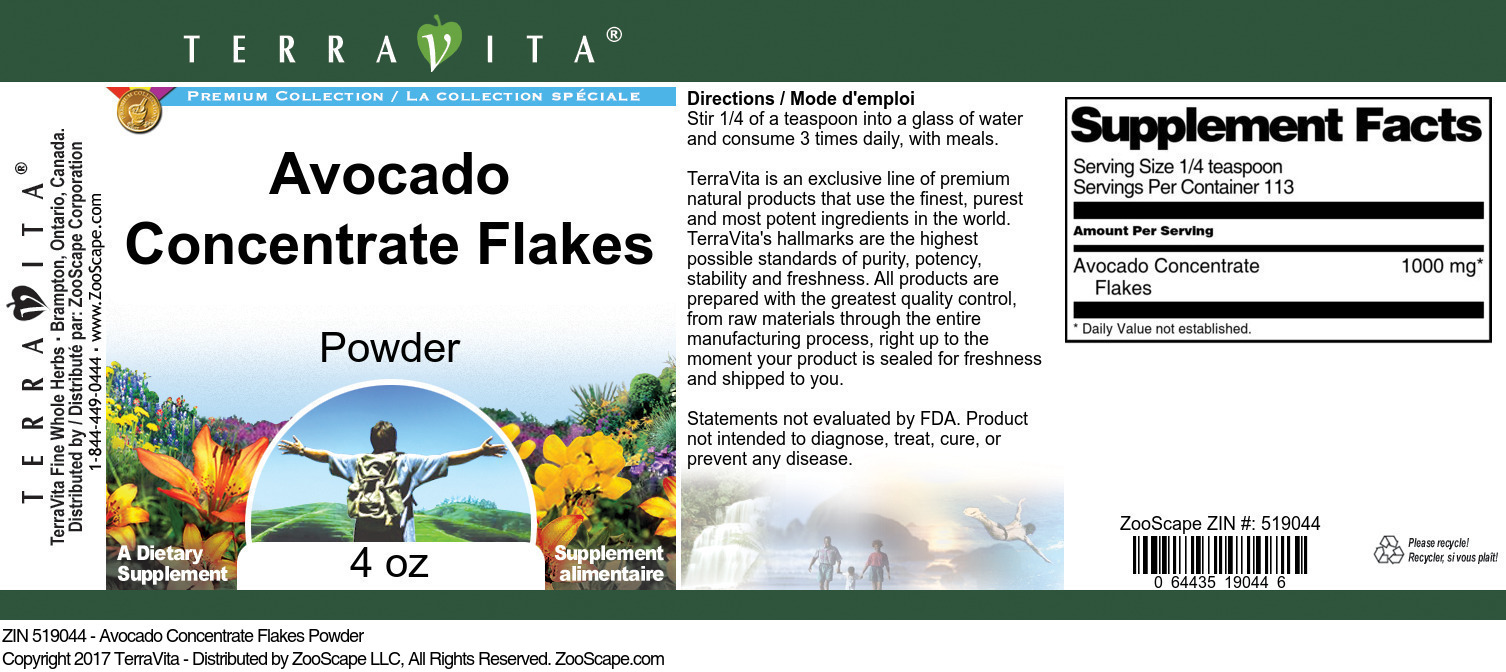 Avocado Concentrate Flakes Powder