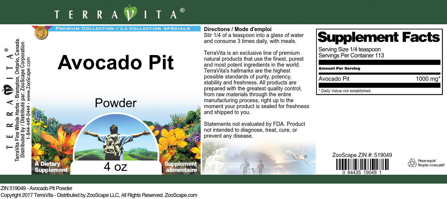 Avocado Pit Powder