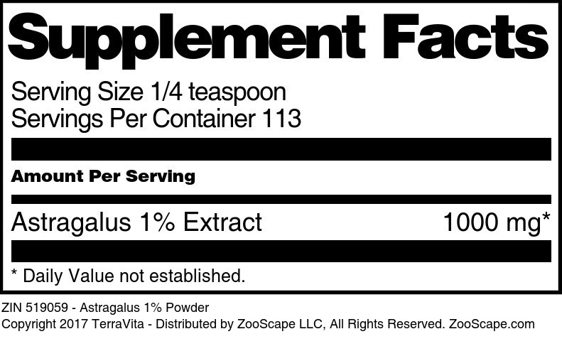 Astragalus 1% Extract