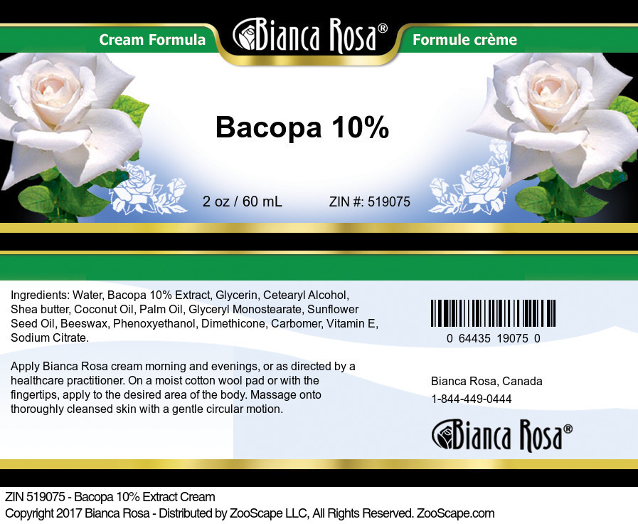 Bacopa 10% Cream