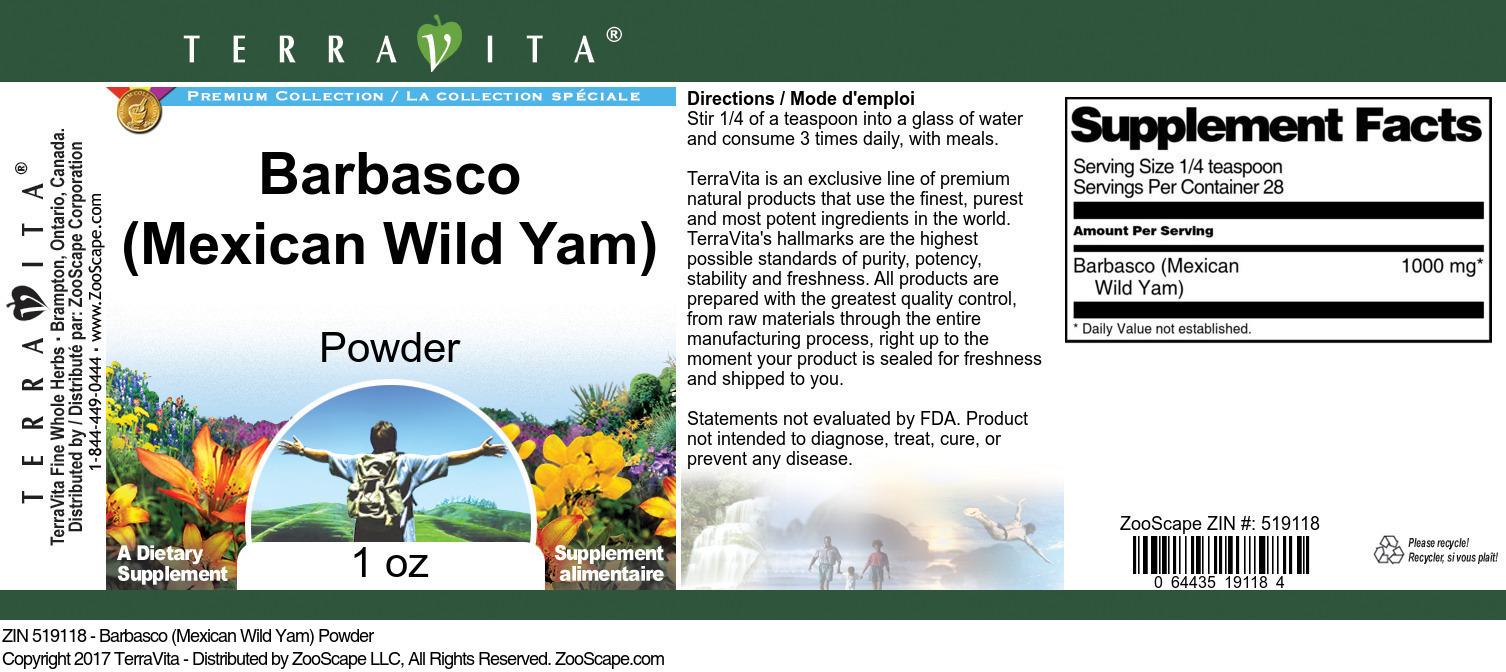 Barbasco (Mexican Wild Yam) Powder