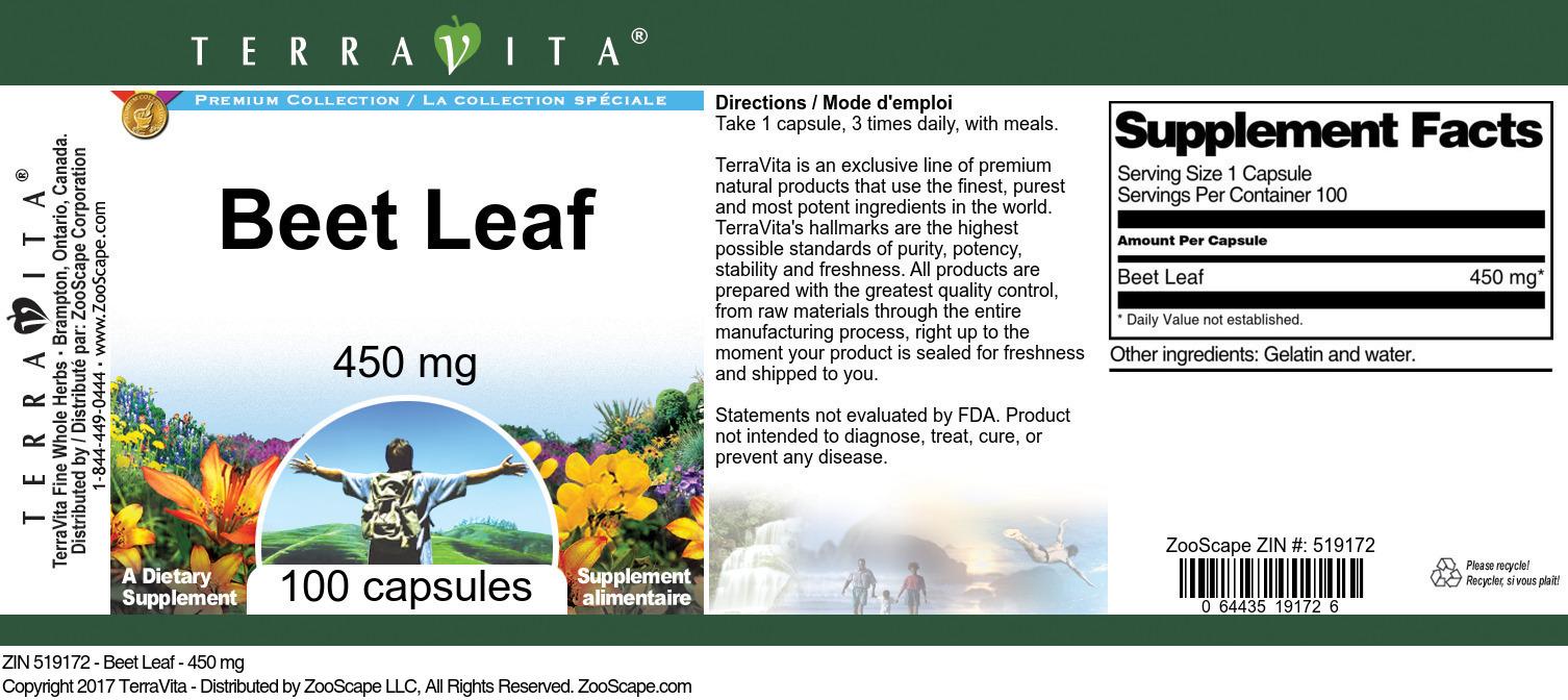 Beet Leaf - 450 mg