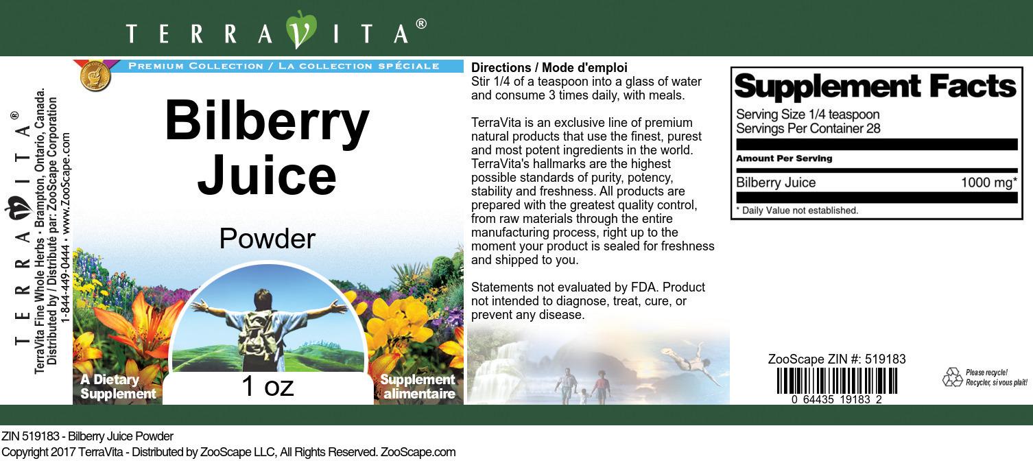Bilberry Juice Powder