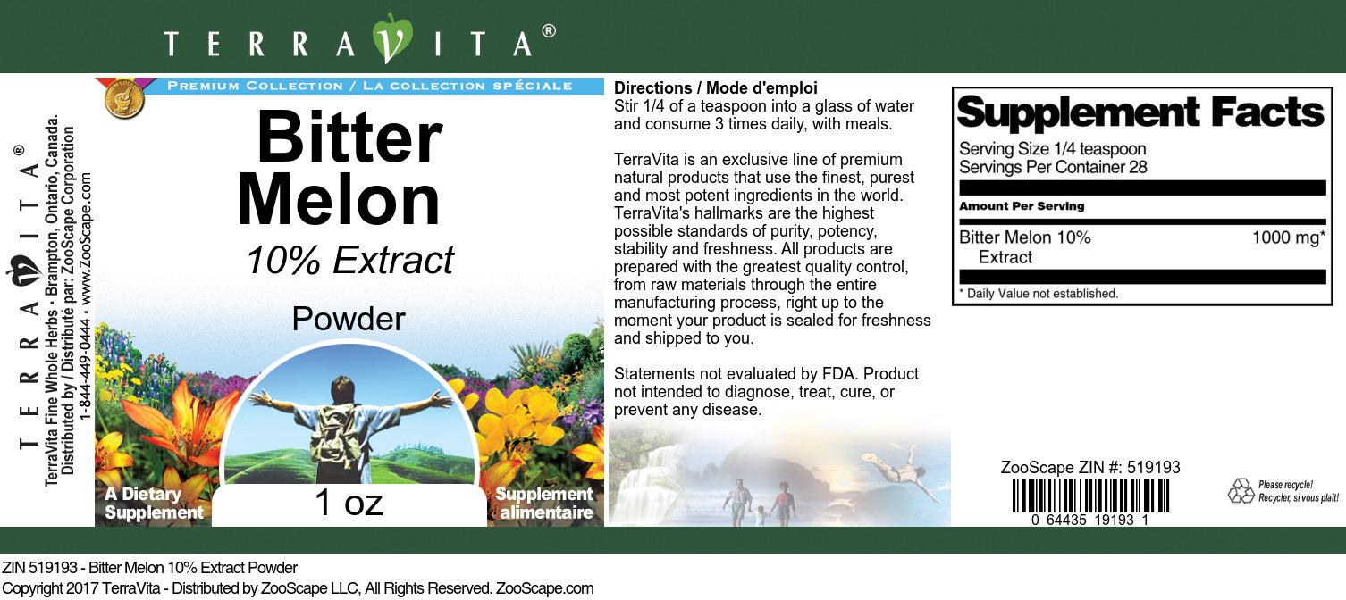 Bitter Melon 10% Powder