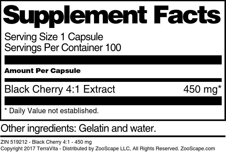 Black Cherry 4:1 - 450 mg