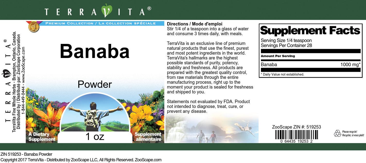 Banaba Powder
