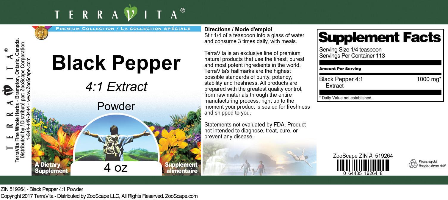 Black Pepper 4:1 Powder