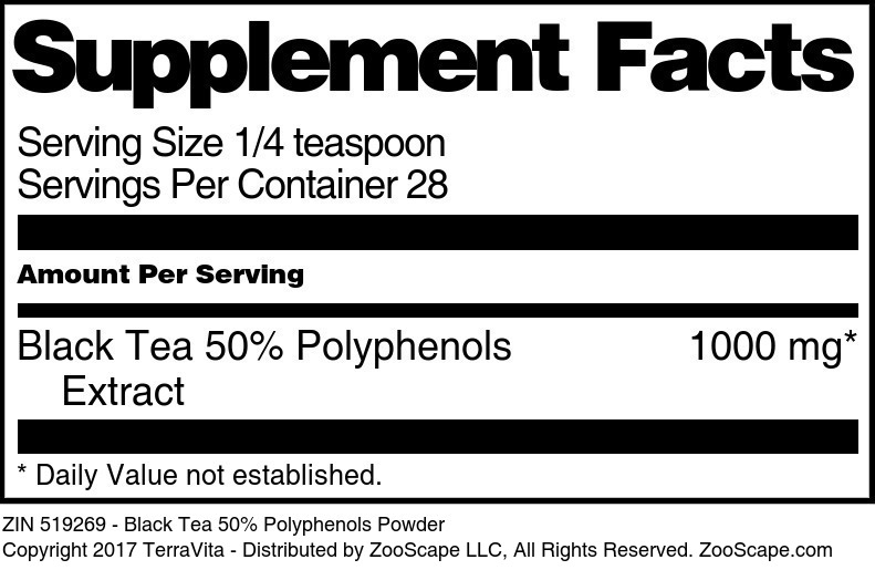 Black Tea 50% Polyphenols Powder