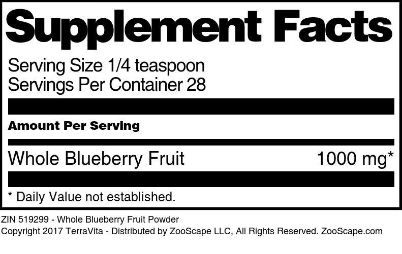 Whole Blueberry Fruit Powder