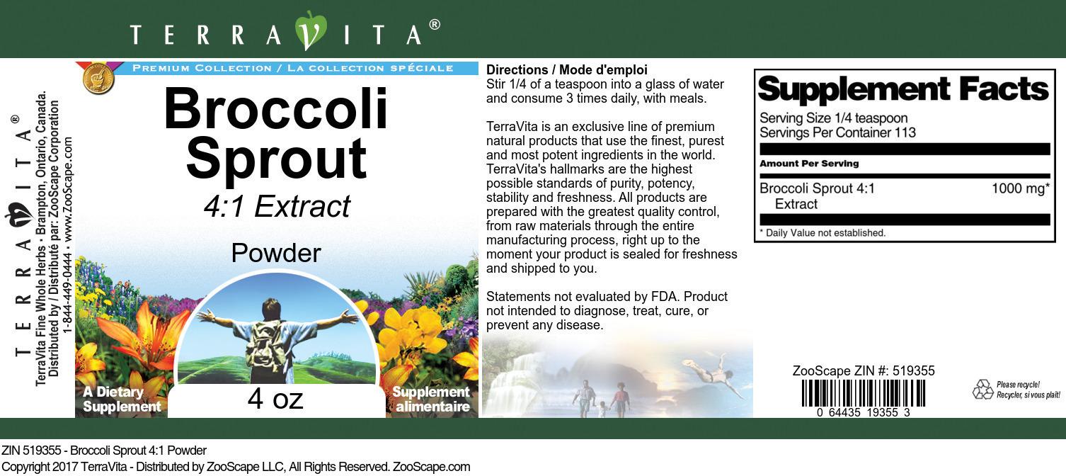 Broccoli Sprout 4:1 Powder