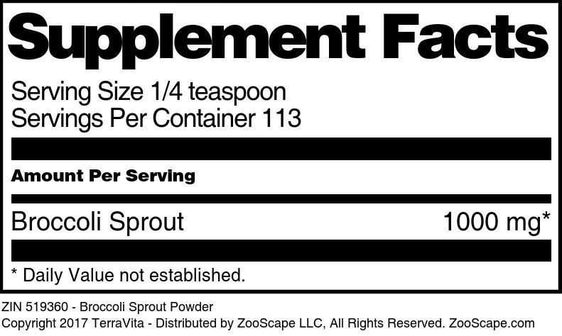 Broccoli Sprout Powder