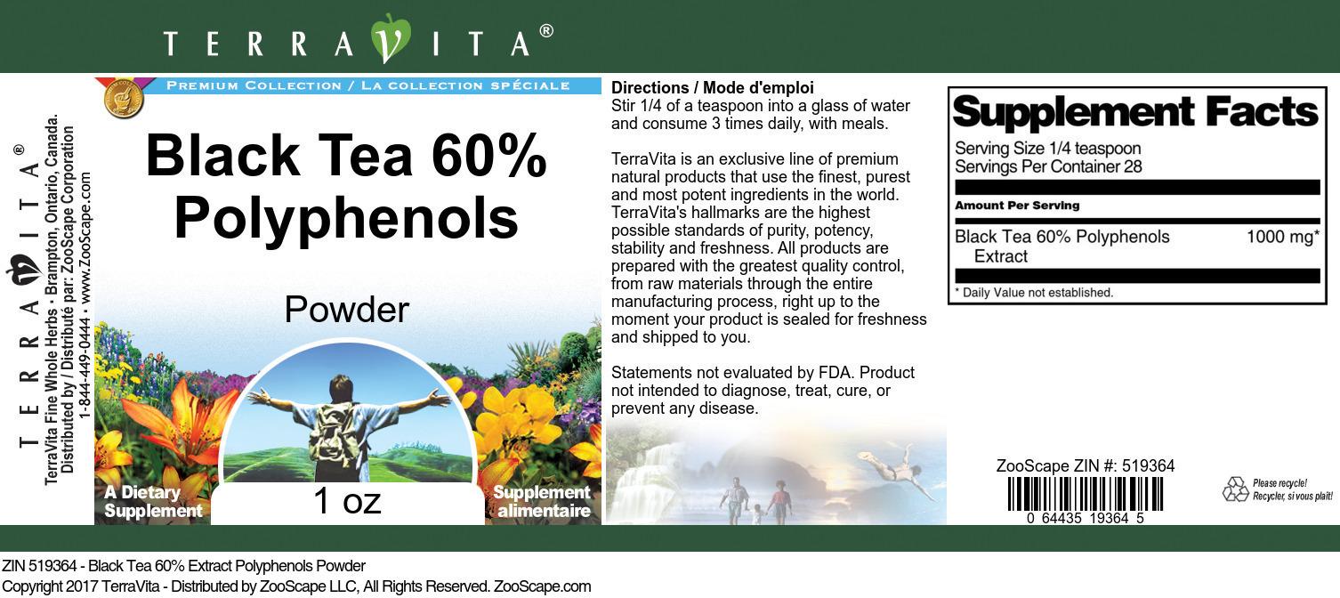 Black Tea 60% Polyphenols Powder