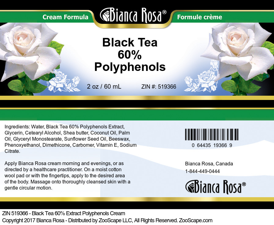 Black Tea 60% Polyphenols Cream